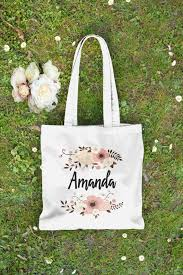 bridesmaid gift bags personalised floral tote bag bridesmaid tote bag bridesmaid