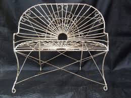 wrought iron style settee metal patio furniture