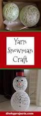 feature friday yarn snowman craft tutorial snowman crafts