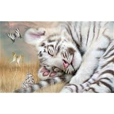 mazayka 3d diy painting tiger and butterfly