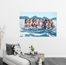 art painting for home decoration 2017 a group of girls oil painting canvas art