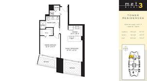 met 3 met 3 miami condos met 3 residences met 3 floor plans