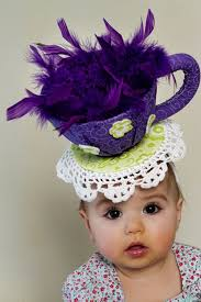 tea party hats what a delightful baby chapeau wacky awesomeness