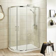 premier 1200mm x 800mm offset quadrant shower enclosure with tray 1200mm x 800mm offset quadrant shower enclosure with tray image 1