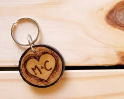 wooden key chain wood keychain etsy