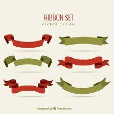vintage ribbon vintage ribbon set vector free