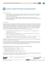 lesson 8 using if then moves in solving equations
