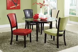 chair dining table and chair set east west furniture avon 5 piece