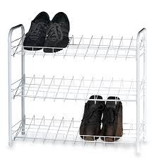 Bed Bath And Beyond Shelves by Three Tier Shoe Shelves Bed Bath U0026 Beyond