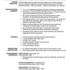 Flight Attendant Resume Example Resume As A Flight Attendant Sales Attendant Lewesmr