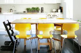 Yellow Dining Room Ideas Yellow Leather Dining Room Chairs Dining Chairs Design Ideas