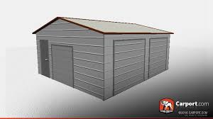 two car metal workshop garage with a frame roof buy metal buildings