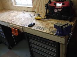 Woodworking Workbench Top Material by Low Cost Tank Tough Workbench 6 Steps With Pictures