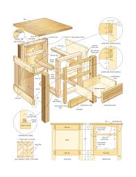 woodworking plans bedside table beginner woodworking plans