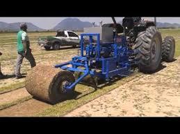 Muito Colhedora de grama em rolos de 75cm de largura - YouTube @KS77
