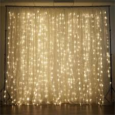 wedding backdrop with lights 20ft x 10ft led lights organza backdrop curtain photobooth wedding