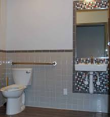 Commercial Bathroom Ideas by Cheap U0026 Cheerful Tile Design For An Ada Bathroom U2013 Katz Design Group