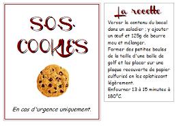 recette de cuisine a imprimer sos cookies la recette les quatre feuilles du trèfle de ma vie