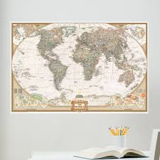 world map wall art roselawnlutheran wall art kit national geographic world map wall mural