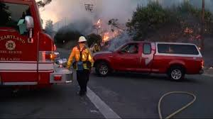 California Wildfire Cat by California Wildfire Burns 40 Square Miles