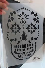 25 unique sugar skull stencil ideas on sugar skull