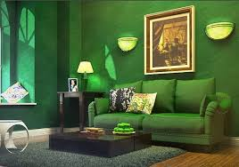 green colored rooms one color room you stand in the middle of the room and look
