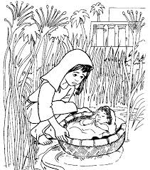 Baby Moses Coloring Pages Timeless Miracle Com Bible Coloring Pages Moses