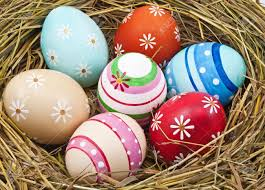 beautiful easter eggs in nest stock photo picture and royalty