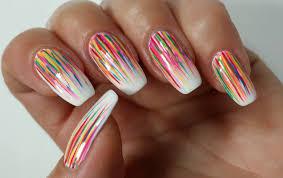 easy summer nail art abstract rainbow nails youtube