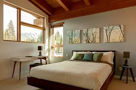 Tree Art With Builtin Bed Bedroom Modern And Silk Decorative - Art ideas for bedroom