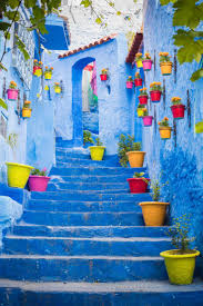 blue city morocco this won the award of the cutest street in chefchaouen just