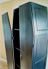 coffin shaped armoire commission project books gothic and house