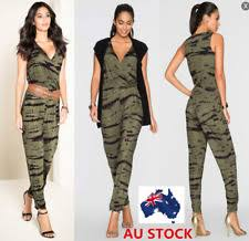 camouflage jumpsuit womens s camouflage jumpsuits rompers and playsuits ebay