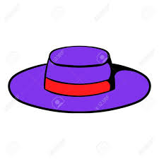 cartoon sombrero sombrero hat icon cartoon in purple royalty free cliparts