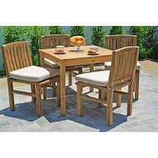 36 Inch Patio Table 5 Pc Huntington Teak Outdoor Patio Furniture Dining Set With 36