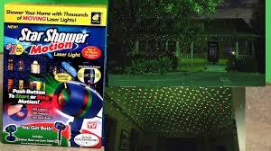 motion laser christmas lights star shower motion laser lights review test footage christmas