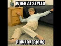 Aj Styles Memes - when aj styles pinned jericho memes youtube