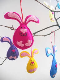 bunny decorations felt nursery ornaments bunny decorations hanging home decors