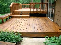 Wooden Patio Bench by Backyard Wood Patio Ideas Image Of Witching Outdoor Designs From