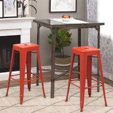 30 Inch Bar Stool Tabouret 30 Inch Tangerine Metal Bar Stools Set Of 2 Free
