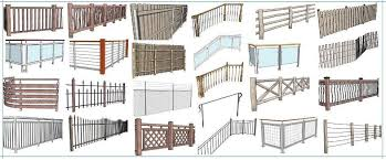 Railings And Banisters Instant Fence And Railing Sketchup Extension Warehouse