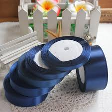 silk satin ribbon aliexpress buy 25 yards ink blue silk satin ribbon wedding