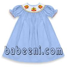 smocked turkey bishop dress for buy