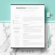Best Resume Templates Etsy by Resume Templates Hired Design Studio