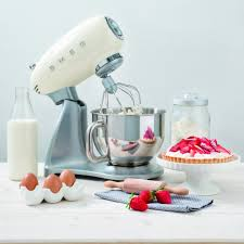 smeg retro appliances stand mixer cream black red smeg retro appliances stand mixer cream black red