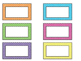 student name tags for desks nametag clipart