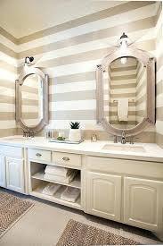Wallpaper Bathroom Ideas Striped Wallpaper For Bathroom Telecure Me