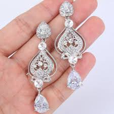 vintage wedding earrings chandeliers bridal earrings pageant earrings chandelier earrings sparkling