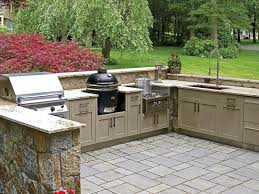 Waterproof Kitchen Cabinets by Cabinets U0026 Drawer Open Brick Wall Outdoor Kitchen Ideas For Small