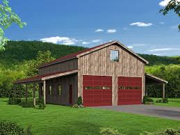 outbuilding plans barn plan with covered side porches and loft